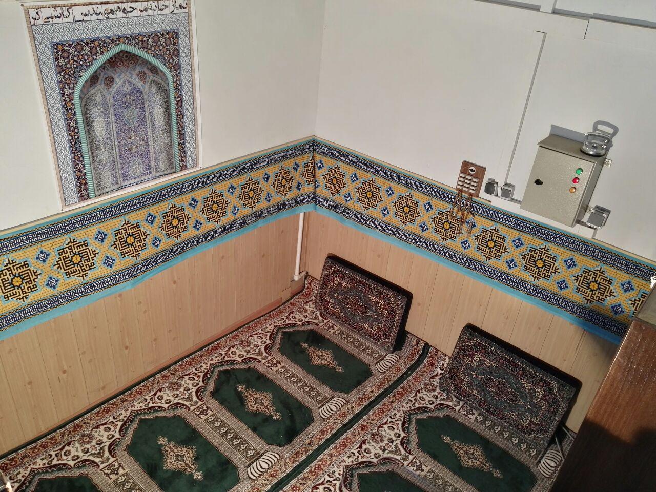 افتتاح نمازخانه مرکز تحقیقات فرآوری مواد کاشی گر به مناسبت ایام ماه مبارک رمضان